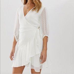 All Saints Jade Wrap Dress in White